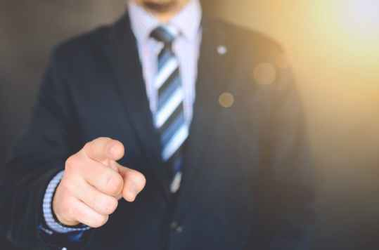 photography of a person pointing on something
